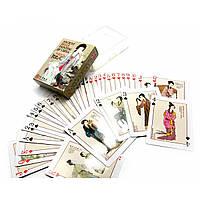 Карты игральные покерные атласные Duke Древние картины китайской живописи и фарфора 54 листа 88х6, КОД: 717741