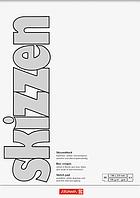 Скетчбук А5 Brunnen верхняя склейка обложка белая 190 г м2, 50 листов 1047555, КОД: 1931377