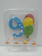 "Цифра з кульками блакитна ""9"""