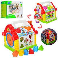 Музыкальная игрушка сортер Теремок со звуковыми и световыми эффектами Развивающая игрушка для детей