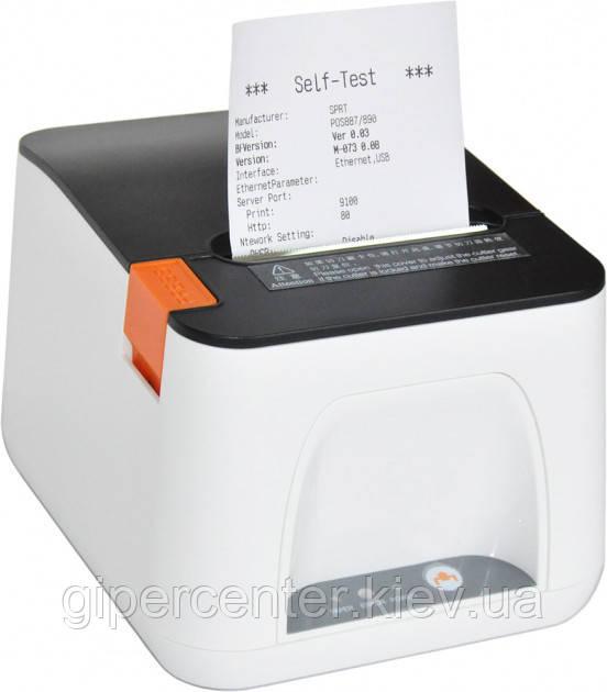 POS-принтер чеков SPRT SP-POS890E Ethernet + USB with dispenser White