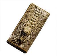 """Женский кожаный кошелек """"Крокодил"""" гаманець жіночий"""