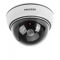 Муляж камеры видеонаблюдения купольная камера UKC PROCESS BB-1500 с подсветкой как при записи hub, КОД: