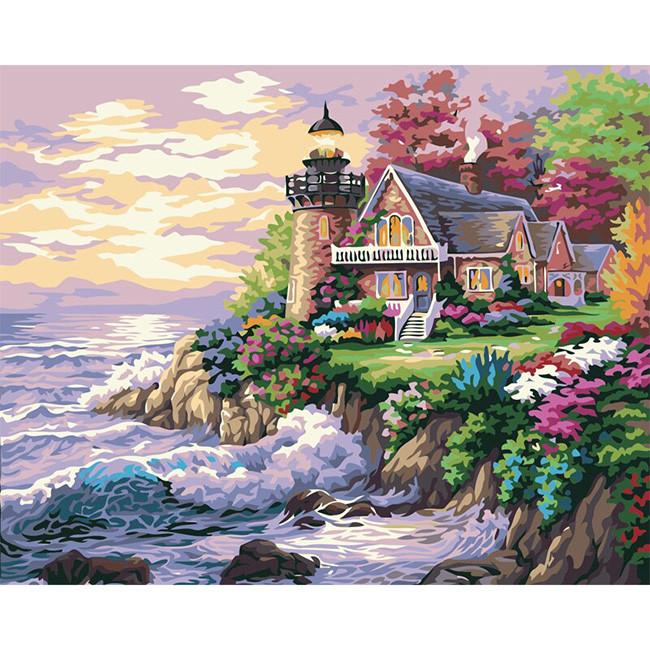 Картина за номерами 40х50 см DIY Будинок з маяком (FX 30483)