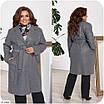 Жіноче пальто великого розміру, фото 5