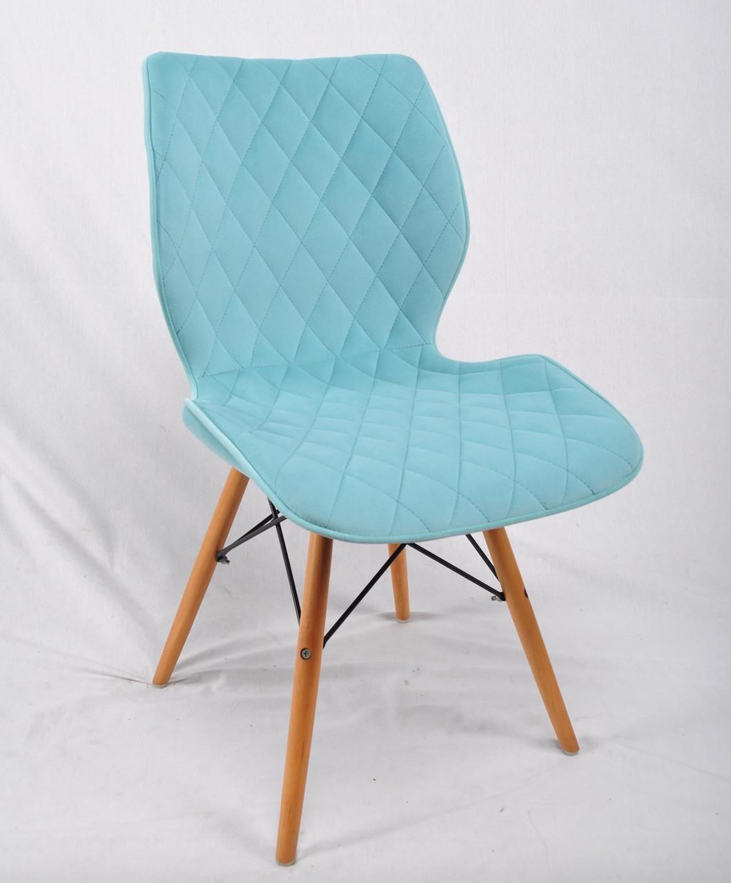 Обеденный стул Nolan Б-Т (Нолан) светло- зеленый бархат на деревянных ногах