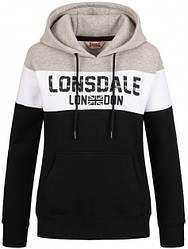 Женское худи Lonsdale 116011 Black White Marl Grey
