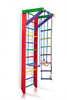 Деревянная шведская стенка с турником SportBaby Барби 2-240 Разноцветная («Барби 2-240»)
