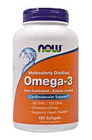 NOW Omega 3 ENTERIC 180sgels