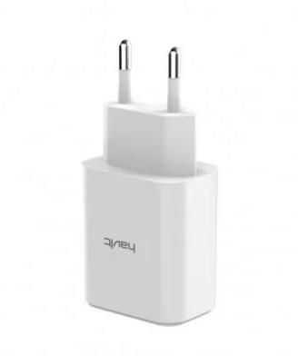 Пристрій зарядний Havit №HV-H140 для мобіл. телеф. 2USB, 5V, 2,4A white