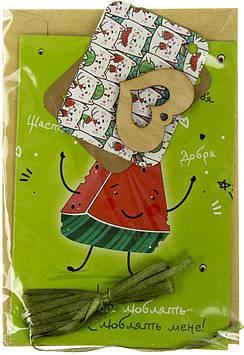 """Набір для виготовлення листівок """"Щастя й добра/Кавунчик люблять всі"""" №H010"""