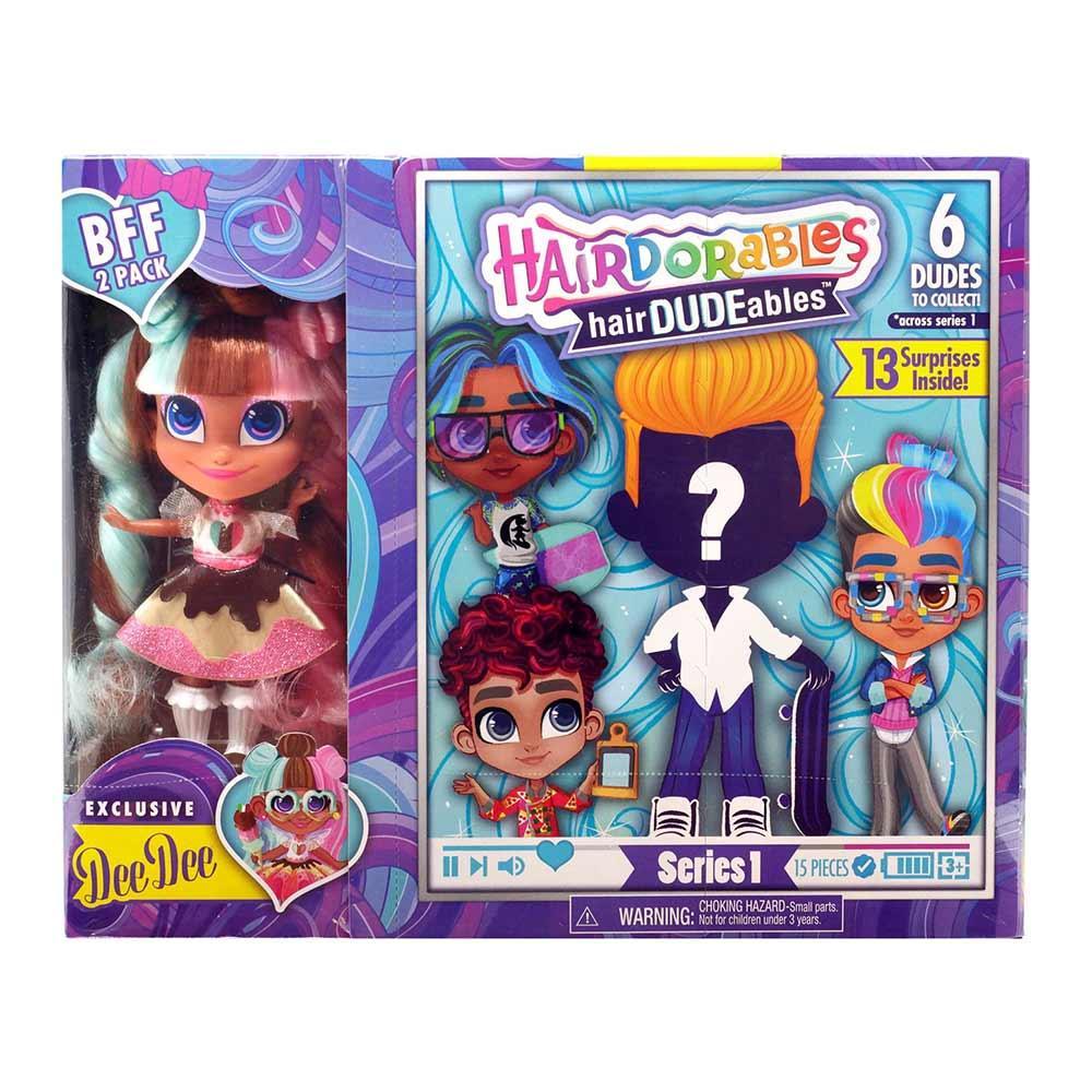 Набор-сюрприз Hairdorables мальчик и девочка Dee Dee   Набор 2 куклы He and She Хэрдораблс