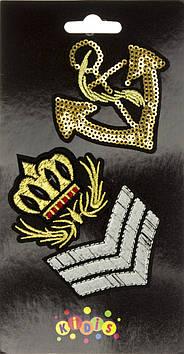 """Наклейка термо """"Якір і корона"""" на текстиль №8422"""