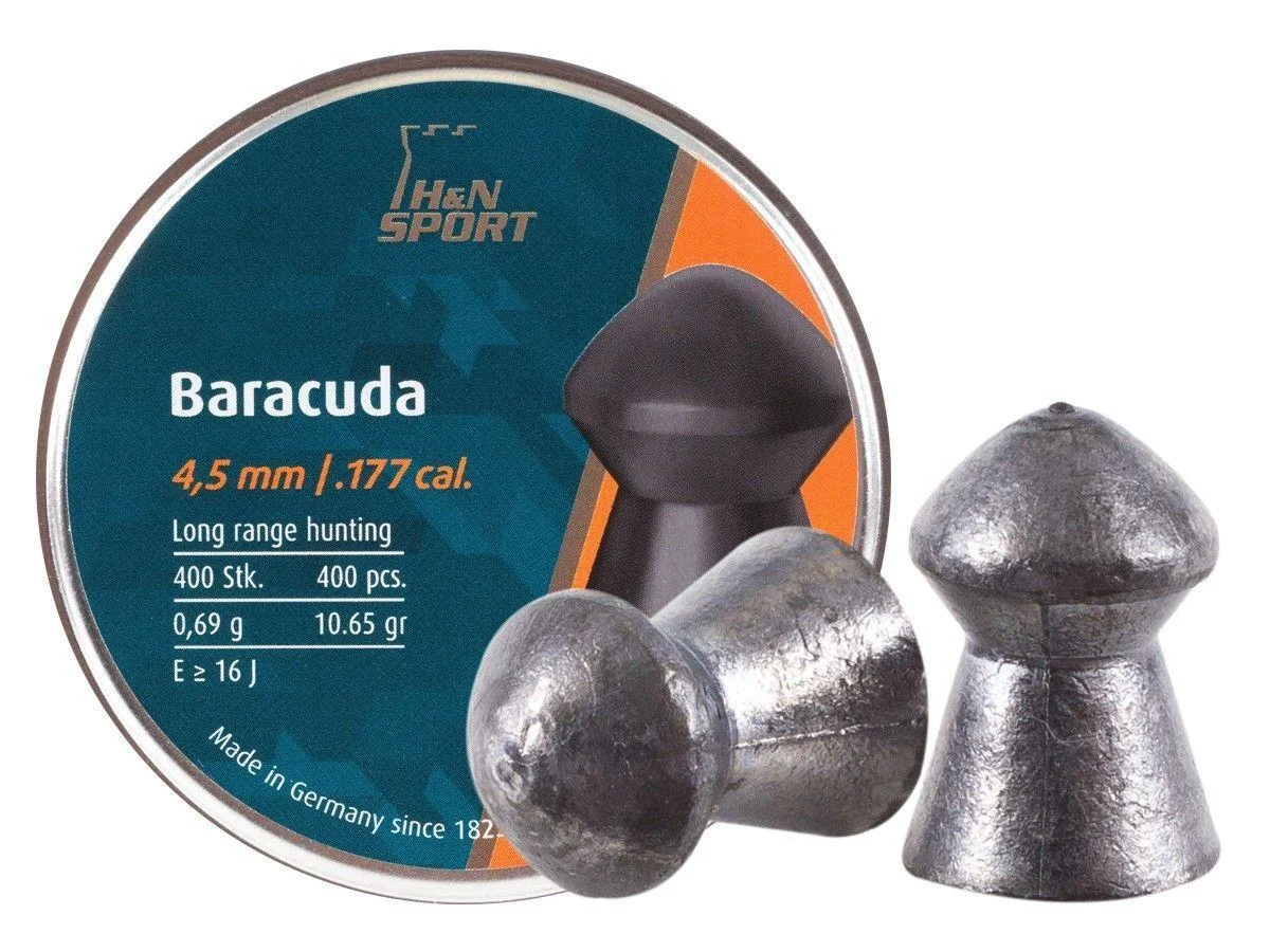Пули Haendler Natermann Baracuda, 4,5 мм , 0,69 г, 400 шт/уп