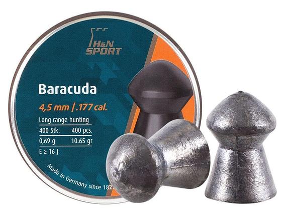 Пули Haendler Natermann Baracuda, 4,5 мм , 0,69 г, 400 шт/уп, фото 2