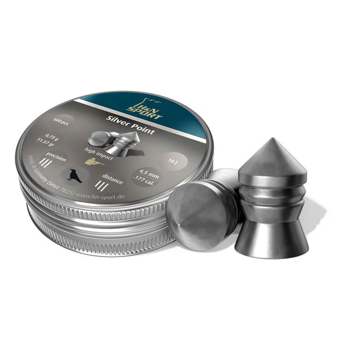 Пули пневм Haendler Natermann Silver Point, 500 шт/уп, 0,75 гр 4,5 мм
