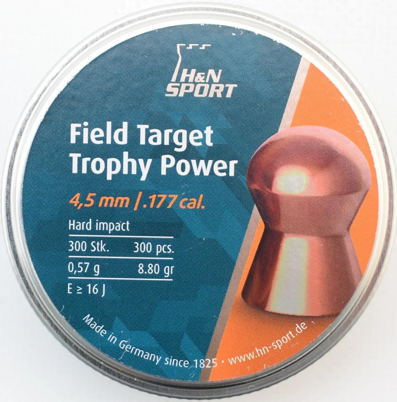 Кулі пневм Haendler Natermann FT Trophy Power 300 шт/уп, 0,57 г, 4,5 мм