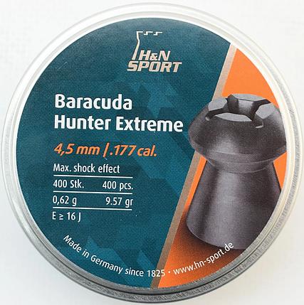Пули пневм Haendler Natermann Baracuda Hunter Extreme 4,5 мм 400шт/уп 0,62г, фото 2