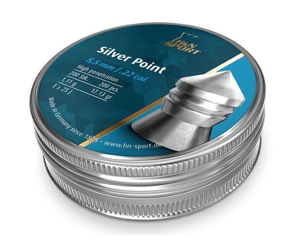Пули пневм Haendler Natermann Silver Point, 5,5 мм ,1.11г, 200шт/уп.