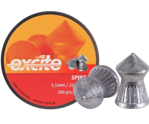 Пули пневм Haendler Natermann Excite Spike, 5,5 мм ,1,00г, 200шт/уп, фото 2