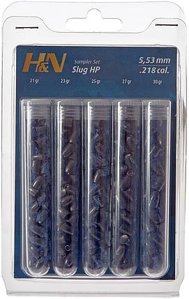 Пули пневм Haendler Natermann Slug Sampler Test Set, 5,53 мм, фото 2