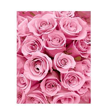 Картина за номерами 40х50 см DIY Рожеві троянди (NX 9276)