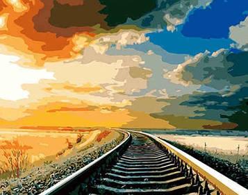 Картина за номерами 40х50 см DIY Поїзд (NX 9279)