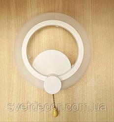 Бра светодиодное настенный LED светильник 9W 1888/1 круг белый