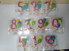 Цифра з кульками дитяча (рожева)
