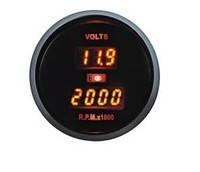 Дополнительный прибор Ket Gauge LED 86105 тахометр, вольтметр