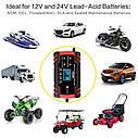 Интеллектуальное автоматическое автомобильное зарядное устройство OUYORCAR для аккумуляторов 12В 8А/24B 4A, фото 2