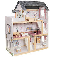 Ігровий ляльковий будиночок AVKO Вілла Толедо + меблі дитячий дерев'яний для дітей, фото 1