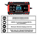 Интеллектуальное автоматическое автомобильное зарядное устройство OUYORCAR для аккумуляторов 12В 8А/24B 4A, фото 3
