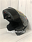 Мотошлем DFG Модуляр с очками + Подарки: Перчатки, Маска, Чехол, фото 5