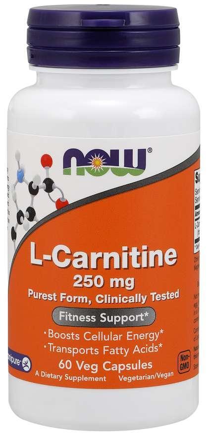 Л-Карнітин NOW L-Carnitine 250mg 60caps