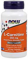 Л-Карнитин NOW L-Carnitine 250mg 60caps