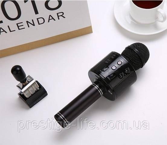 Беспроводной караоке микрофон WSTER 858 Черный