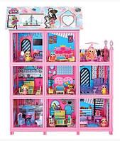 Большой Домик для ЛОЛ с куклами и аксессуарами 9 комнат