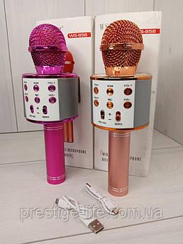 Беспроводной караоке микрофон WSTER 858 Золотистый