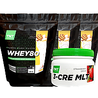 Масс-комплект Muskle Grow Whey Протеин 6 кг Poland ваниль + Креатин в Подарок