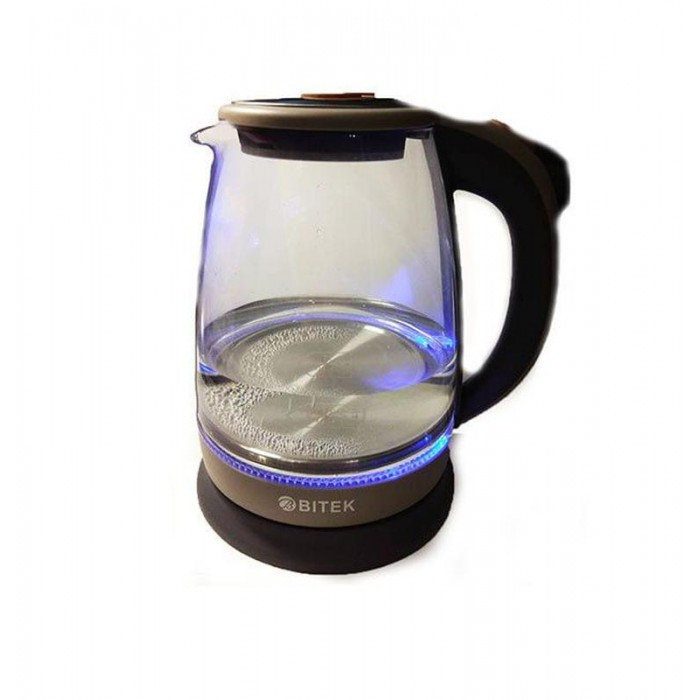 Электро чайник ВIТЕК ВТ-3110 2400W 1,8L стекло с подсветкой Серый