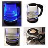 Электро чайник ВIТЕК ВТ-3110 2400W 1,8L стекло с подсветкой Серый, фото 2