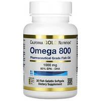 Madre Labs, Омега 800, концентрированный рыбий жир, не содержит ГМО, 1000 мг, 30 желатиновых мягких капсул