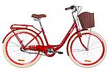 """Дорожньо-міський велосипед з багажником і кошиком DOROZHNIK LUX PH 26"""" (чорний), фото 5"""