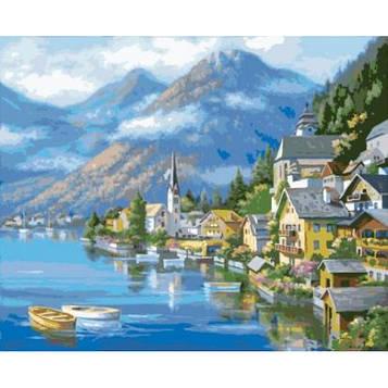 Картина за номерами 40×50 див. Ідейка (без коробки) Австрійський пейзаж (КНО 2143)