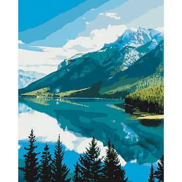 Картина за номерами 40×50 див. Ідейка (без коробки) Гірська краса (КНО 2266)