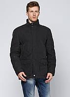Мужская демисезонная куртка Kaiser L Черная 7172799-L, КОД: 1464739