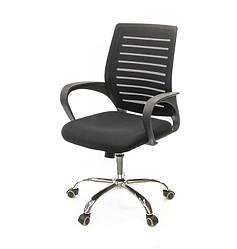 Кресло офисное на колесиках Фиджи NEW CH TILT компьютерное кресло сетка, черное с нагрузкой до 120 кг