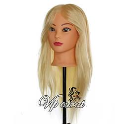Учебная голова манекен для причесок с натуральными волосами 70% / манекен для парикмахера для накруток