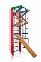 Детский спортивный комплекс с трапецией и горкой SportBaby Барби 3-240 Разноцветный (Барби 3-240)